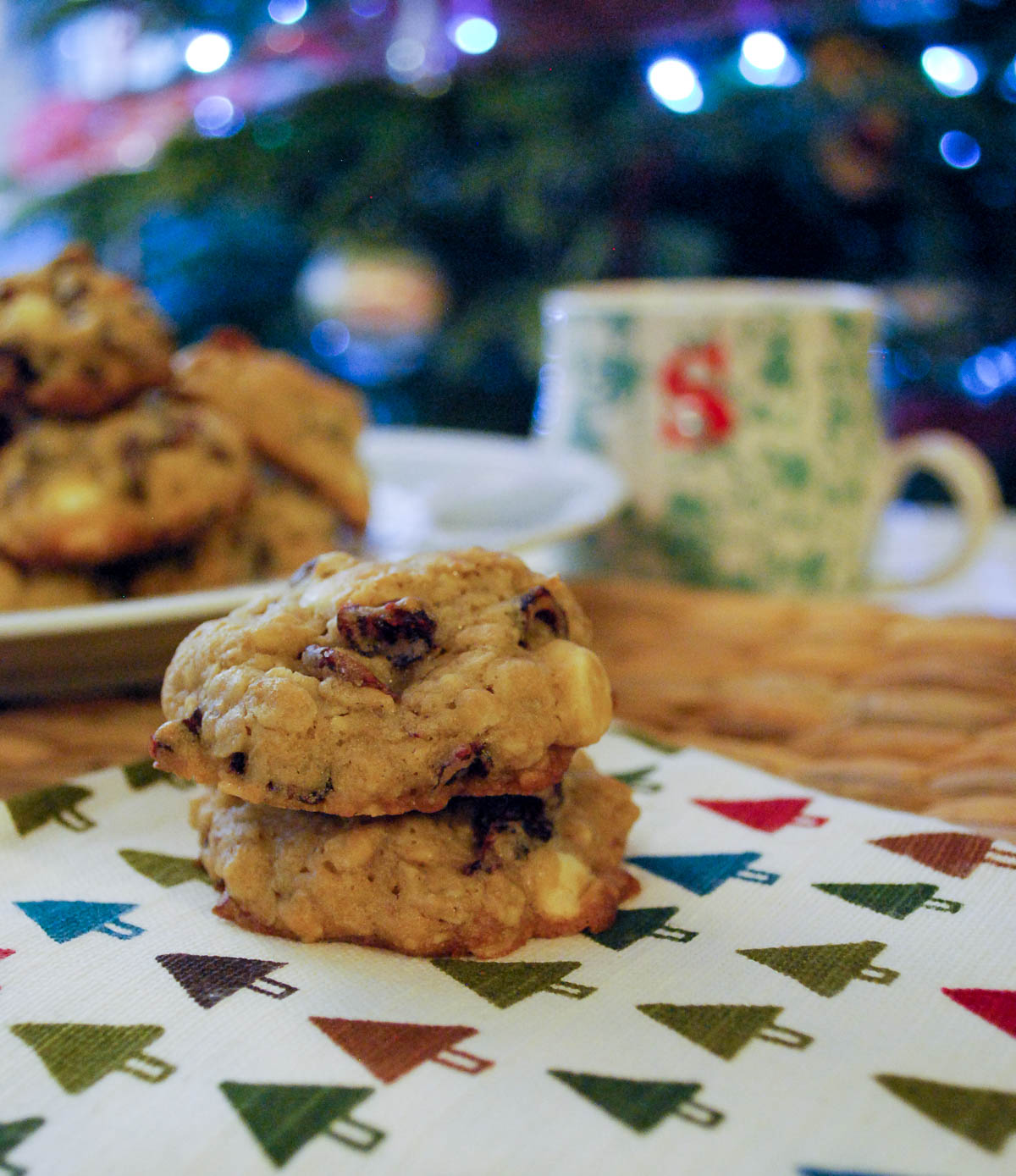 White Chocolate Cranberry Cookies-1