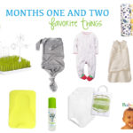 One and Two Month Favorite Things for Baby